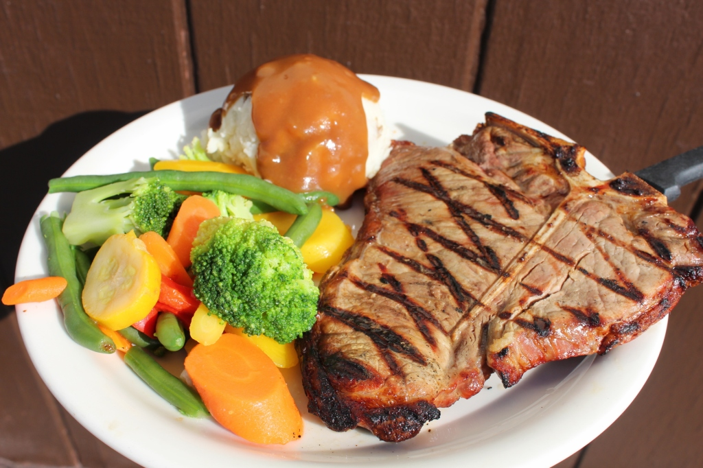 16oz. Porterhouse Steak Dinner $8.99 (4pm-midnight)